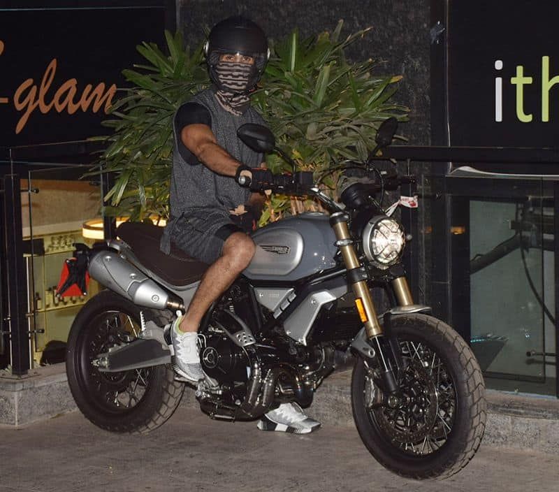 Actor Shahid Kapoor was spotted with his Ducati Scrambler 1100 Special, a top-of-the-line bike model in the Scrambler family.
