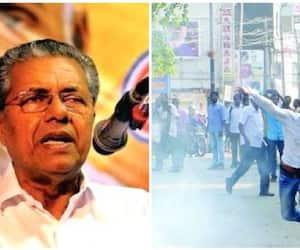92% cases of violence carried out Sangh Parivar  BJP calls Pinarayi Vijayan liar