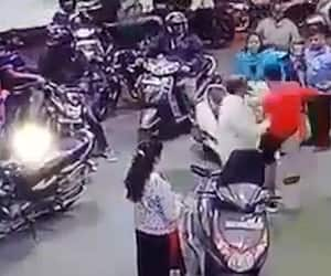 Bengaluru man abuses kicks woman fuel station over alleged accident