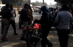 Police and public clash