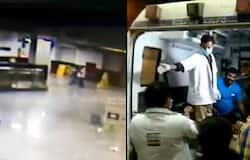 Metro escalator mishap