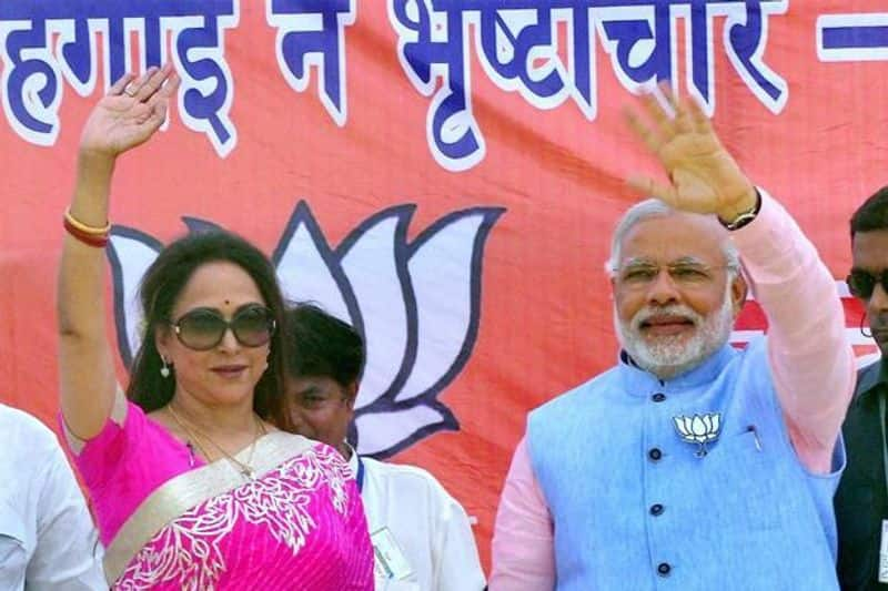 Hema Malini: Dream Girl of Bollywood, Hema Malini works with Bharatiya Janata Party (BJP). From 2003 to 2009, she also served as an MP to the upper house – the Rajya Sabha. In 2014, Malini was elected to the Lok Sabha.