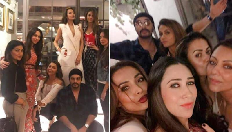 The star wife Gauri Khan hosted a dinner party for her friends last evening and it was attended by several lovely B-town ladies including Karisma Kapoor, Malaika Arora Khan, Amrita Arora, Natasha Poonawala and others. Malaika's boyfriend and actor Arjun Kapoor was also present at the party.