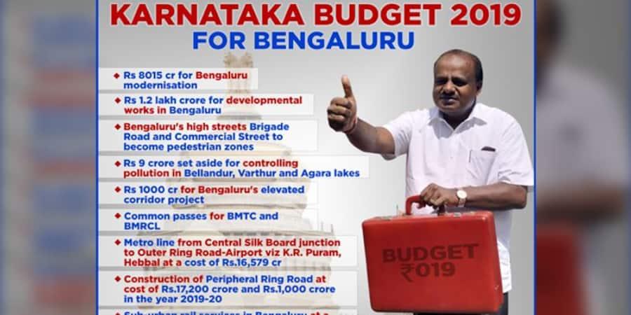 Karnataka Budget 2019 live updates: Chief minister HD Kumaraswamy presents it amid protests