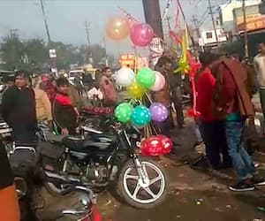 4 cylinders injured after filling gas filling in balloon