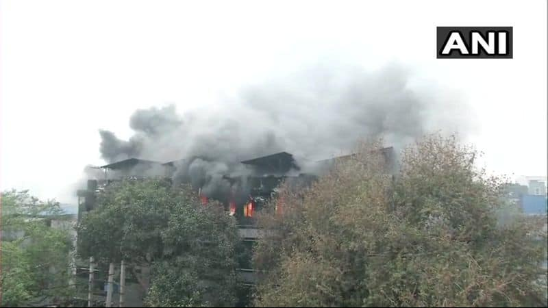 A major fire broke out in a paper card factory on Thursday in West Delhi's Naraina Industrial area.