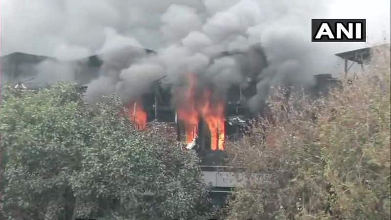 The factory manager Amarjeet Singh said that a PBX board caught the fire first and then it spread in the building.