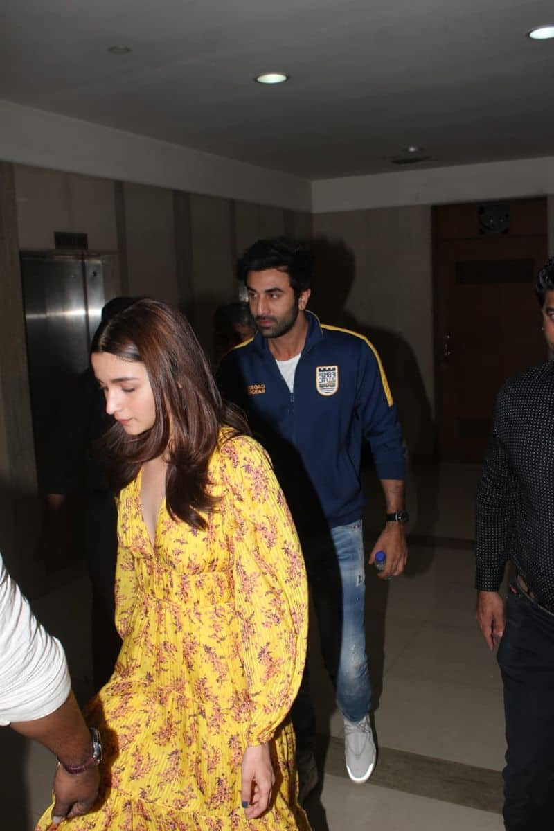 Ranbir Kapoor and Alia Bhatt who have always been low-key about their relationship were spotted at a special screening of the film too.