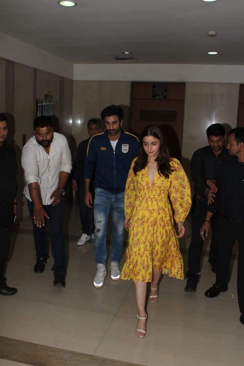 The screening was reportedly organised by Alia Bhatt for Ranbir Kapoor.