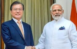 When modi reach in south Korea, Indian the slogan 'Bharat Mata Ki Jai' and the 'Har Har Mahadev'