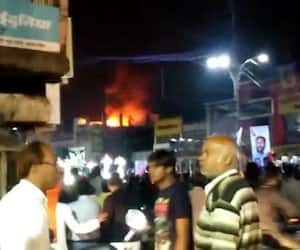Fire at the electronic store
