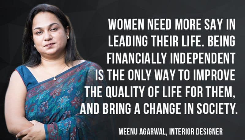 """If you want to smash patriarchy, you have supporter in Meenu Agarwal, the Principal Designer at MADS Creations- """" Women need more say in leading their life. Educate and skill yourself enough to be authoritative and find a better life. Sharpen any skill that you may have and use them to make a mark."""""""