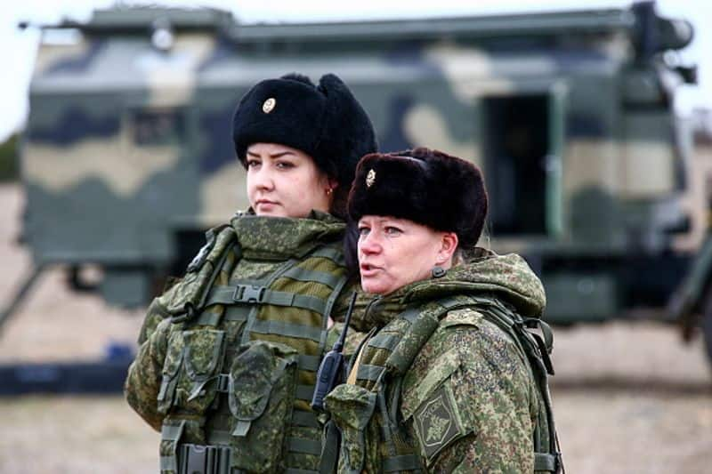 Russia: Women served during the World Wars. While they mostly held positions in the medical field, there were some Soviet women, who flew combat missions. There were women snipers as well. Post the war, only 10 % are now in the armed forces.