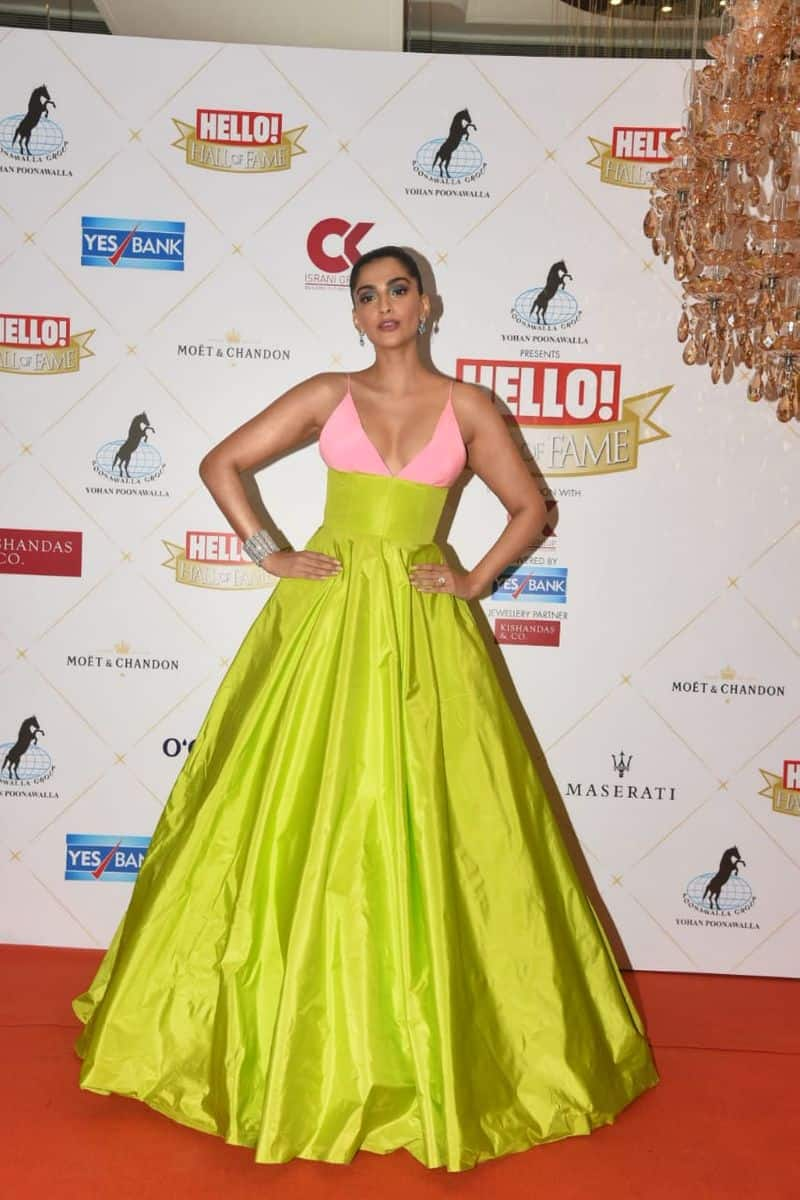 Sonam Kapoor's look was similar to Laura Marano's outfit at the Oscars 2019.