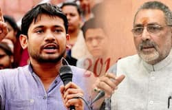 Interesting fight will be in begusarai seat in Bihar between Giriraj singh and Kanhaiya kumar