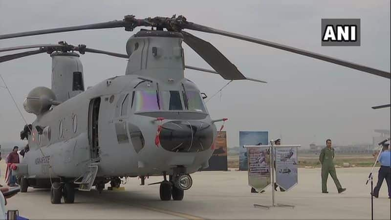 Four Chinook heavy-lift helicopters were inducted to Indian Air Force's fleet in Chandigarh on March 25.