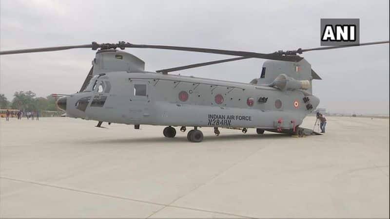 The helicopters, which were manufactured by Boeing, have arrived at the Air Force Station 12 Wing, in Chandigarh.