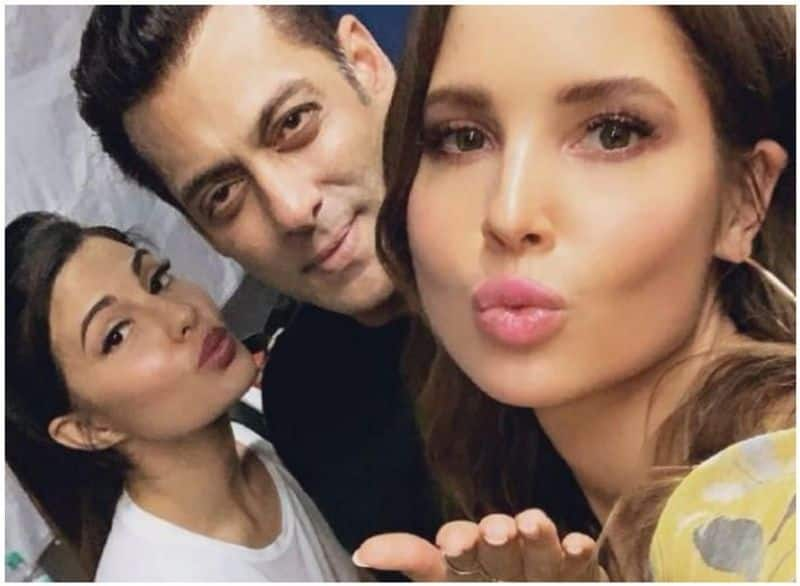 Cerny met her Indian twin Jacqueline and Salman Khan. The trio also shared an image online to show the moment to their fans.