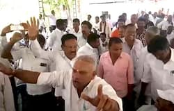 Hassan congress protest
