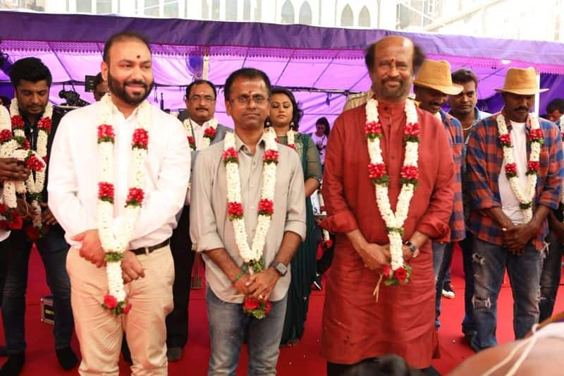 Superstar Rajinikanth's next Tamil movie with filmmaker AR Murugadoss has been titled Darbar, as the makers revealed on Tuesday, April 9. Today, Murugadoss took to Twitter to unveil the pictures saying the shoot starts today with a pooja, which was held in Mumbai.