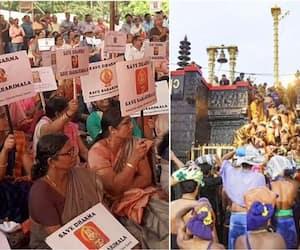 Ayyappa devotees fight for Sabarimala activists; LDF, UDF term it poll code violation