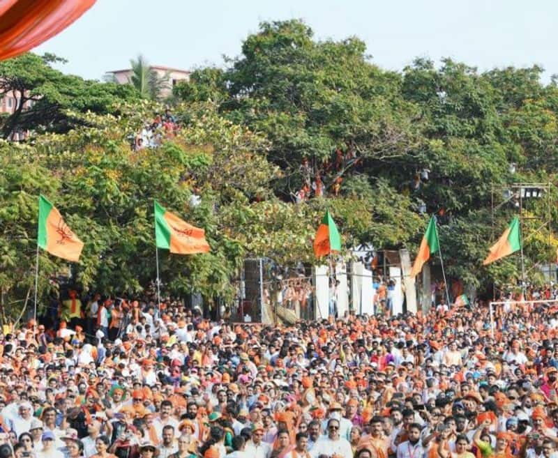 Prime Minister Narendra Modi's rally in south Bengaluru saw a lot of high attendance.