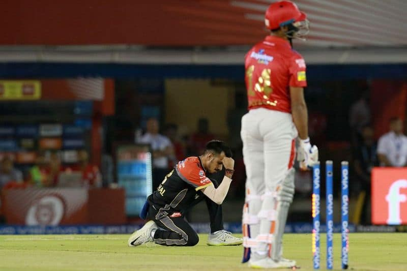 Chahal stumped KL Rahul to provide a breakthrough for RCB. Mayank Agarwal then joined Gayle and scored his half century in 28 balls.