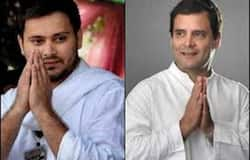 The rift between UPA alliance in bihar, Tejaswi Yadav kept away from Rahul Gandhi joint rally in state
