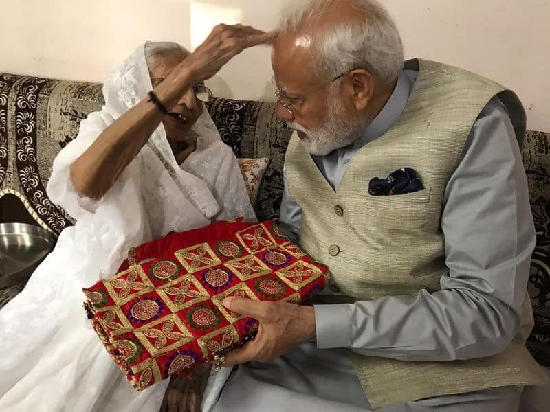Modi has time and again talked about his humble roots and the crucial role his mother played in his success.