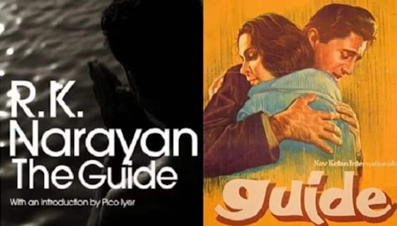 Guide - Guide: Bollywood classic movie Guide stars Dev Anand and Waheeda Rehman was from the critically acclaimed novel by the same name The Guide. Written by Padma Vibhushan winner RK Narayan, who also gifted us the world of Malgudi Day.