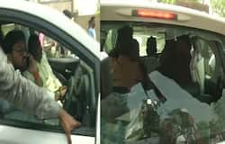Tmc worker attacked destroyed babul supriyo car in asansol seat in voting, paramilitary forces deployed