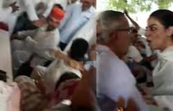 Congress MLA threaten to party worker in public rally