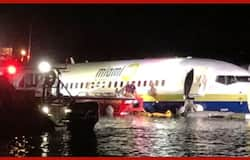 Boeing 737 With 136 On Board Skids On Runway, Falls Into River In US