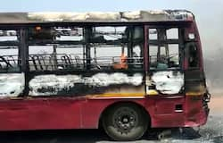 Bus caught fire in Sonbhadra