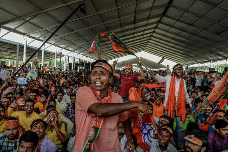 """PM Modi in April held a massive rally at Brigade ground in Kolkata. """"In a time when India is slowly becoming an embodiment of Swami Vivekananda's vision, some people are opposing Modi and through that are disrespecting the nation."""