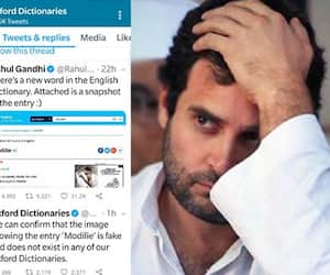 Oxford Dictionaries busted Congress Chief Rahul Gandhi fake claim on word modilie
