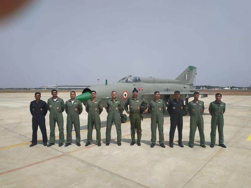 Air Chief Marshal BS Dhanoa on Friday flew a MiG-21 Type 96 fighter jet at Sulur airbase in Coimbatore, Tamil Nadu.