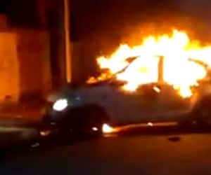 WATCH: Crude bombs hurled, vehicles torched in Bengal 12 hours before last phase polling