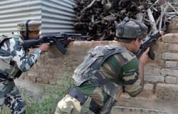 Two terrorist shot dead in encounter in jammu Kashmir by security forces, still underway