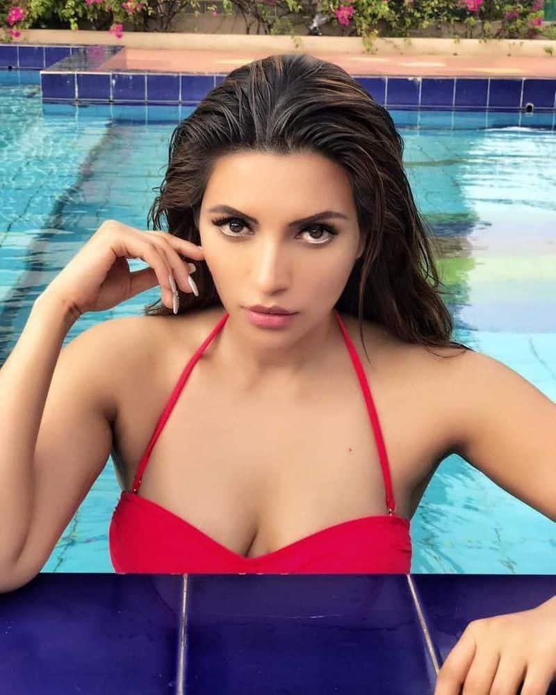 तस्वीर में आप देख टीवी अदाकारा शमा सिकंदर ने सोशल मीडिया पर अपनी तस्वीरें शेयर कर के तापमान बढ़ा दिया है।