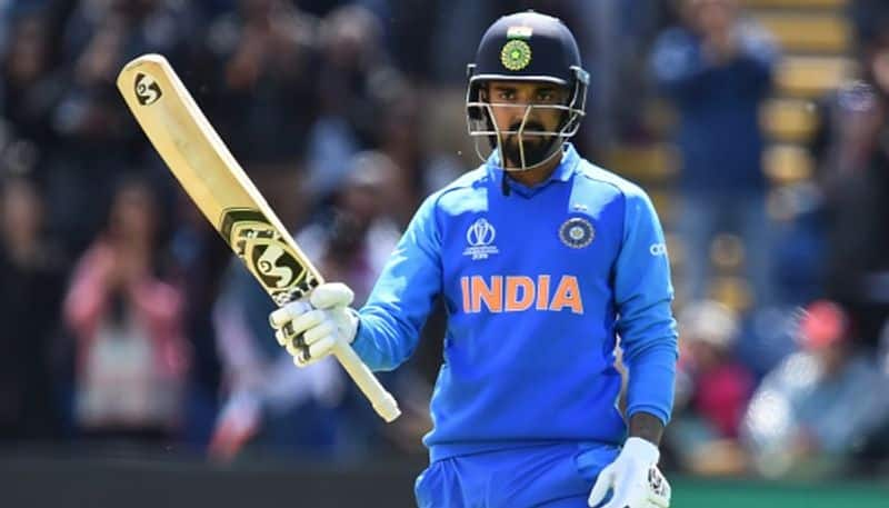 Rahul celebrates his century. This ton will not be in the official records are warm-up matches are not accorded ODI status.