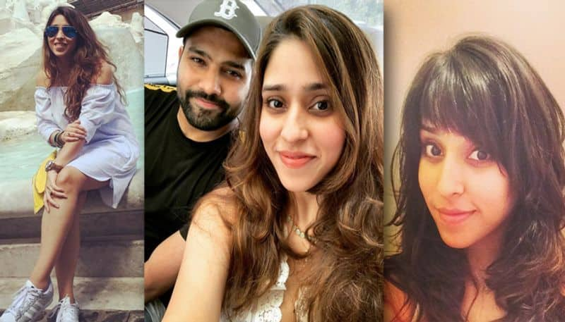 Ritika Sajdeh, the wife of Indian cricketer Rohit Sharma is often seen at the stadium, enjoying her husband's batting. The couple got hitched in 2015.