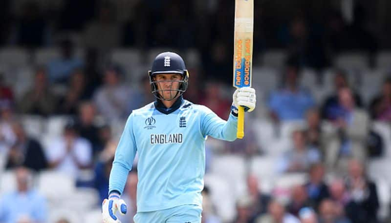 England opener Jason Roy hit the first half century of the tournament