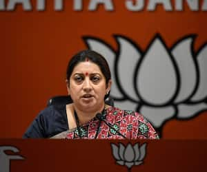 Rift over poster begins in UP Missing poster of Smriti Irani pasted in Amethi