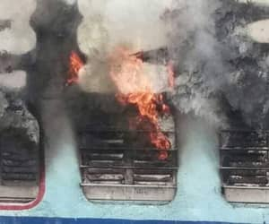 Silchar Thiruvananthapuram superfast express catches fire reasons remain unknown