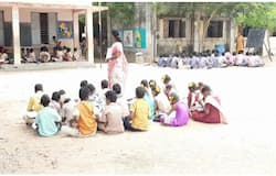 Lesson in the boiling sun plight of the Government School