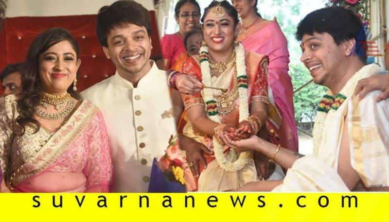 Sandalwood Actor Director Srinivas tie knot with Shruthi