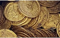ancient coins found beneath the land