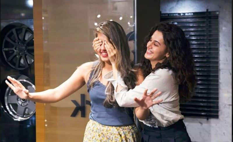 Actress Taapsee Pannu gift jeep compass car to sister Shagun