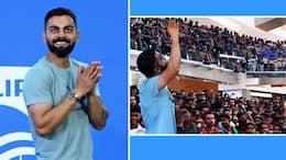 Virat Kohli Amazed by Crazy Fans Shouting..